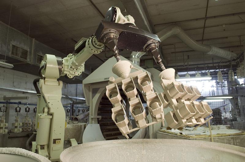 Robots automatiques de trempage / stucage