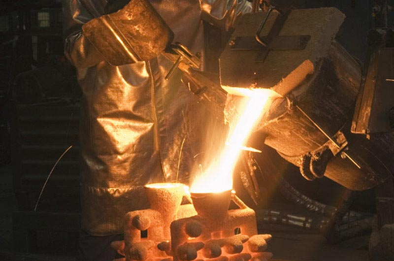 Firing the shells and casting the metal